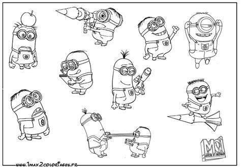 100 dessins de coloriage les minions à imprimer sur ...