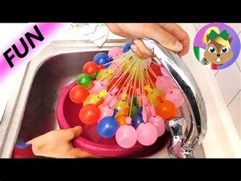 100 globos de agua en 60 segundos   como hacer   YouTube