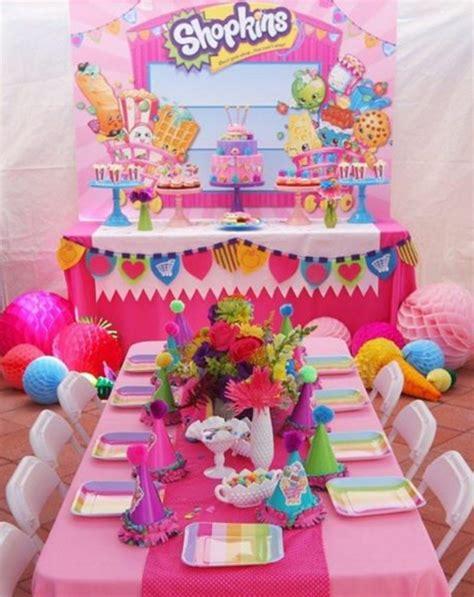 101 fiestas: Ideas para los centros de mesa de shopkins