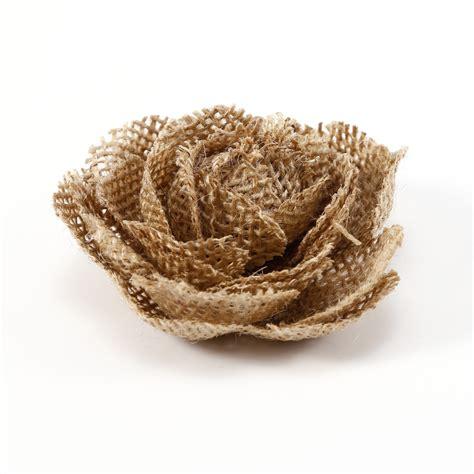 10pcs Flores de tela de saco Arpillera para decorar Boda ...