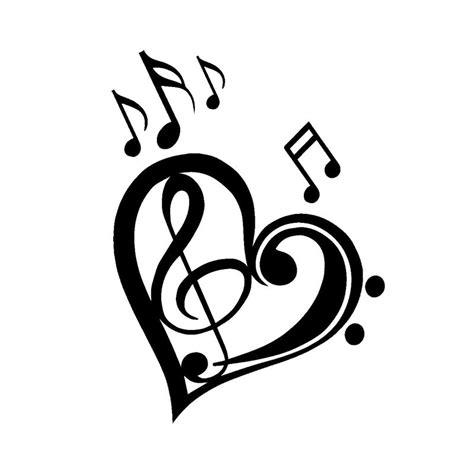 13*17.7CM Cute Love Music Notes Bumper Sticker Cartoon ...