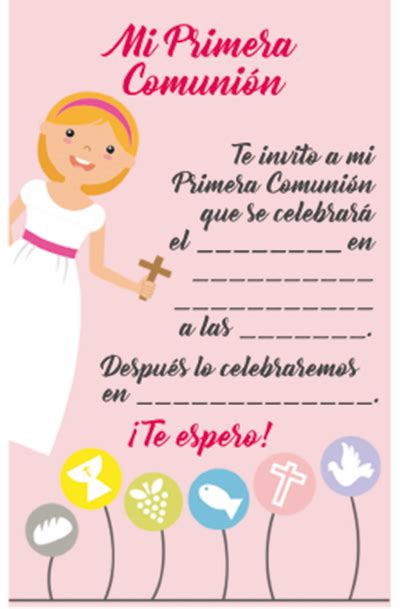 14 invitaciones a la Primera Comunión para imprimir ...