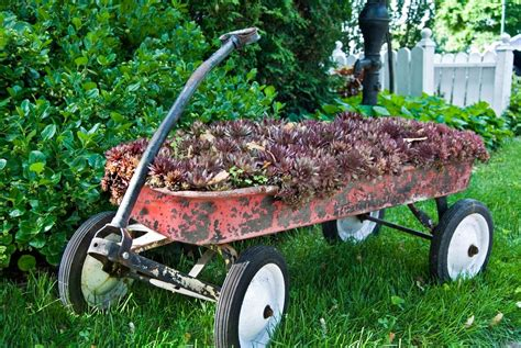 14 Rustic Garden Wagon Ideas For A Country Garden   Garden ...