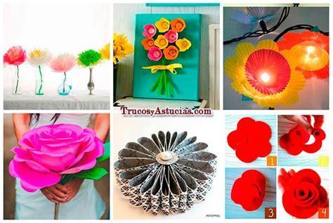 15 Flores que puedes hacer con Manualidades   Trucos y ...
