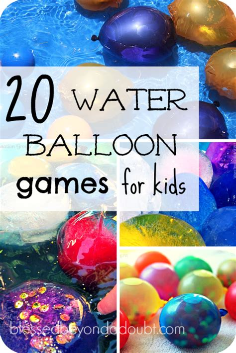 20 FUN Water Balloons Games for Kids Summer Wet Play