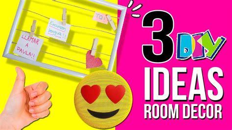 3 IDEAS fáciles y Baratas para decorar tu HABITACIÓN * DIY ...