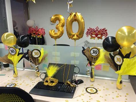 30 s birthday party | Decoración de cumpleaños en oficina ...