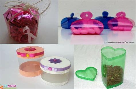 4 cajas de regalo hechas con botellas de plástico ...