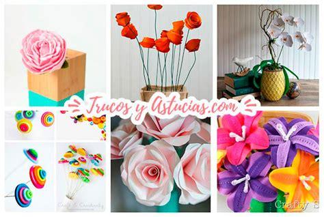 44 Flores de papel y fieltro para hacer con Manualidades ...