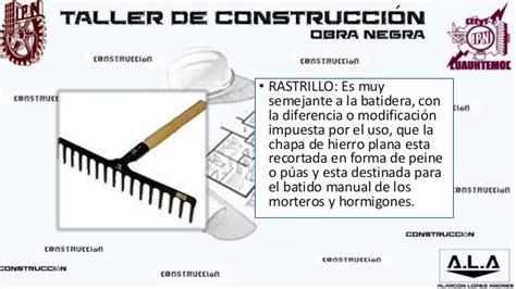 45 herramientas de la construccion