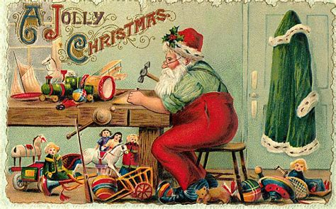 5 Free Christmas Postcards with Vintage Santa Images ...