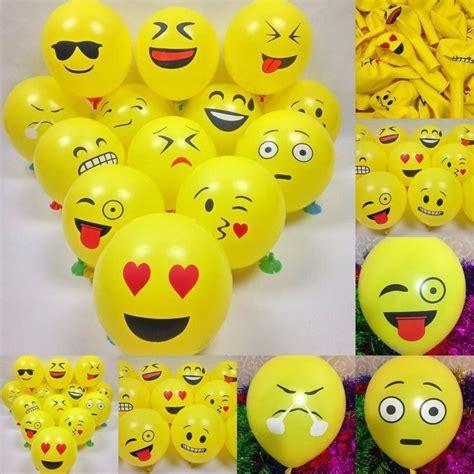 50 Globos Emoji Para Fiesta De Cumpleaños Decoración ...