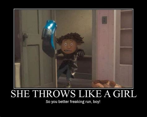 A funny Coraline meme. Yeah, you d better run, Wybie ...
