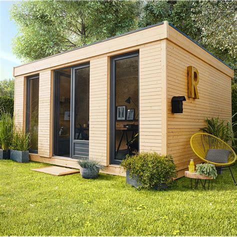 Abri de jardin bois Decor home, 15.25 m² Ep.90 mm   Leroy ...
