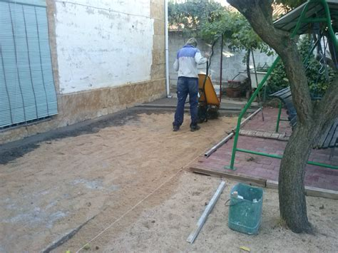 Aceras con terrazo de canto lavado   solados coria