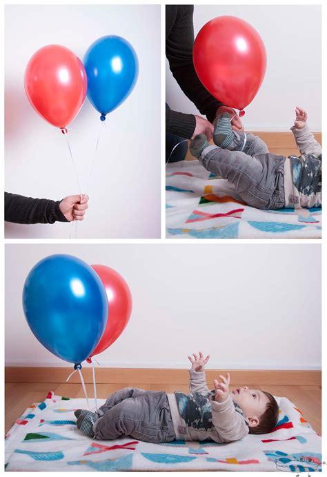 Actividades con globos de helio para bebés   Manualidades ...