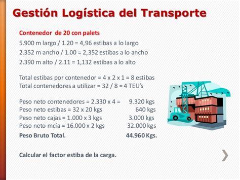 Adecuación de la carga para el transporte casos de estiba ...