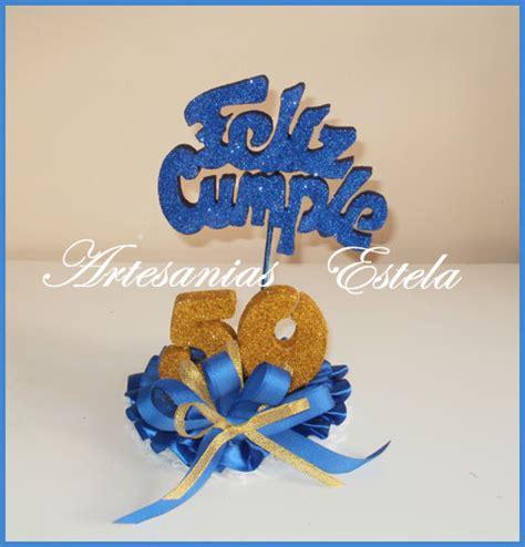 Adorno Para Tortas Cumpleaños 50 Años | Artesanias Estela ...