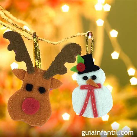 Adornos de fieltro para el árbol de Navidad. Manualidades ...