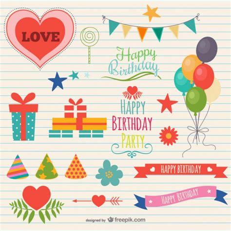 Adornos de fiesta de cumpleaños | Descargar Vectores gratis