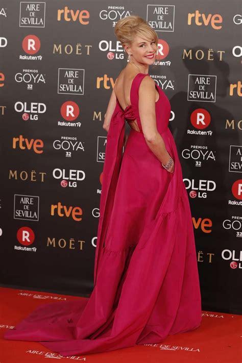 Alfombra roja Premios Goya 2018   Detalle del vestido de ...