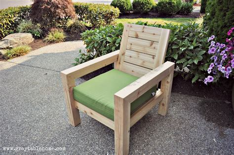 Ana White | DIY Modern Rustic Outdoor Chair   DIY Projects