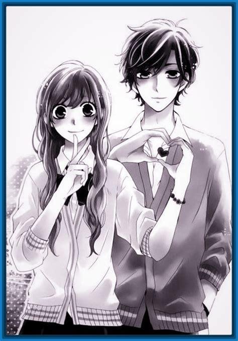 Anime imagenes romanticas en blanco y negro para descargar ...