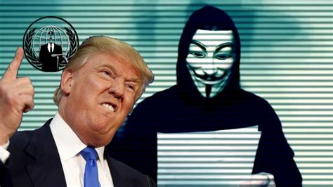 Anonymous le declara la  guerra total  a Donald Trump