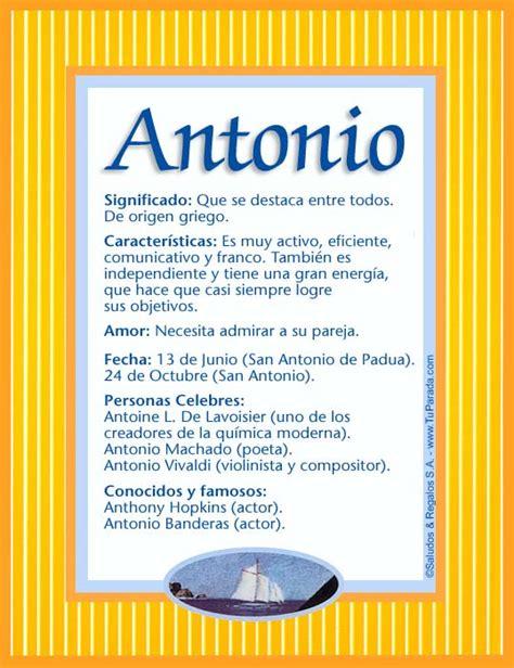 Antonio, significado del nombre Antonio, nombres