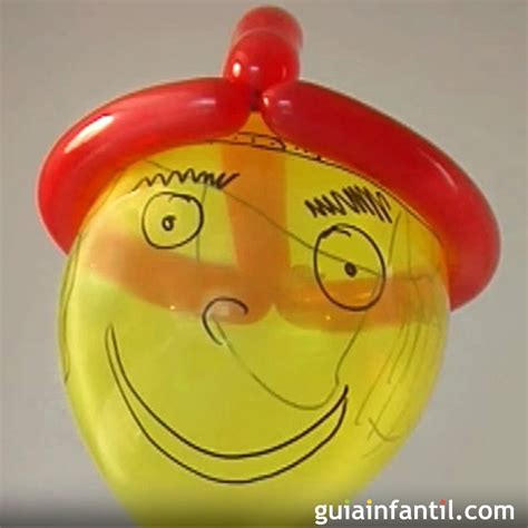 Aprende a hacer un gorro con globos. Globoflexia para niños