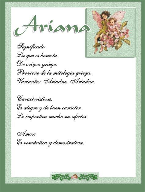 Ariana | Significado de tu nombre