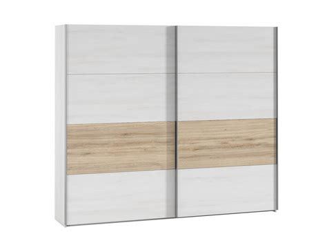 Armario 2 puertas correderas polar / roble natural