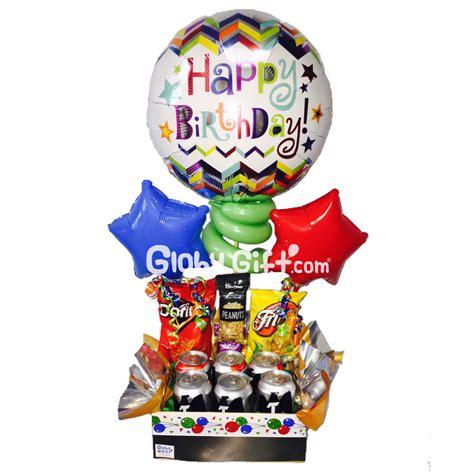 Arreglo con globos de cumpleaños para hombre. Servicio a ...