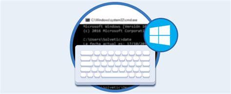 Atajos de teclado para línea de comandos Windows 10   Solvetic