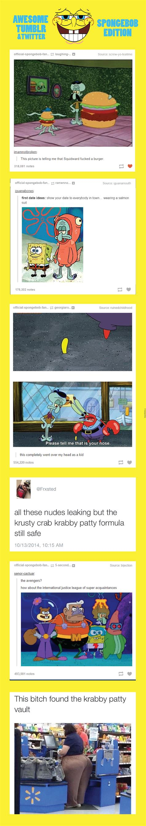 Awesome Tumblr & Twitter Compilation Spongebob Edition by ...