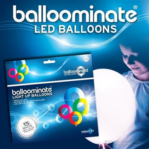 BALLOOMINATE   Globos luminosos blancos  con luz LED ...