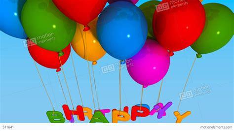 Balloon Happy Birthday Stock Animation | 511641