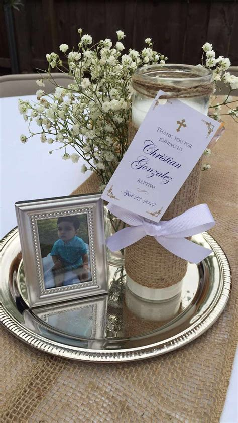 Baptism centerpiece | Party ideas | Pinterest | Baptism ...
