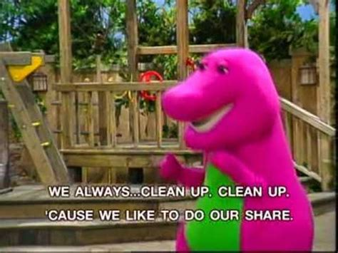 Barney   Clean Up Song   YouTube
