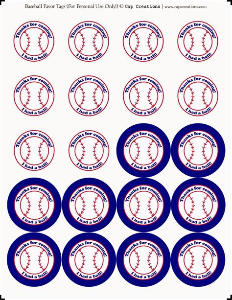 Baseball Mini Kit. | Ideas y material gratis para fiestas ...