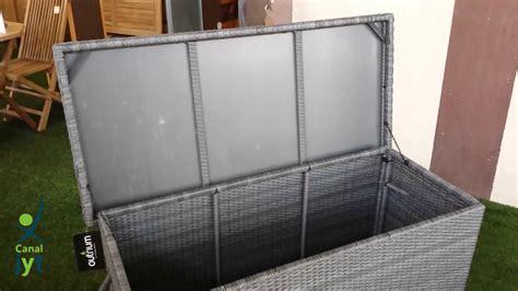 Baúl rattán para jardín | Venta online muebles jardín ...