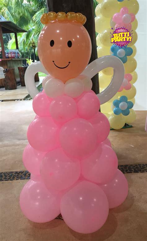 Bautizo Ángel decoracion con globos, primera comunión ...