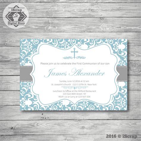 Bautizo invitación niño, primera comunión bautizo ...