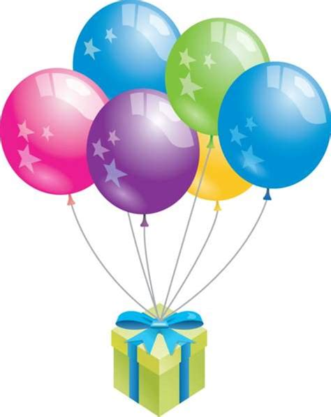 Birthday balloons clipart photo, images, pictures and ...