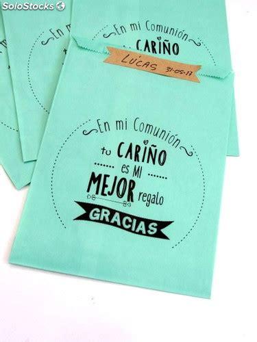 Bolsa regalo comunión impresa con mensaje. Bolsas de papel ...