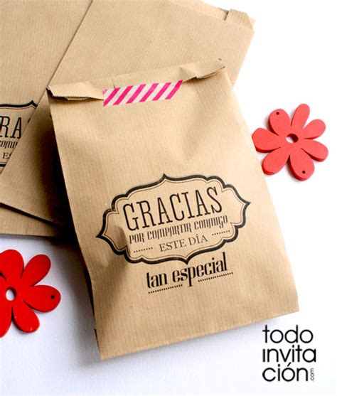 BOLSAS KRAFT GRANDES  GRACIAS 2  .Bautizo y comunión ...