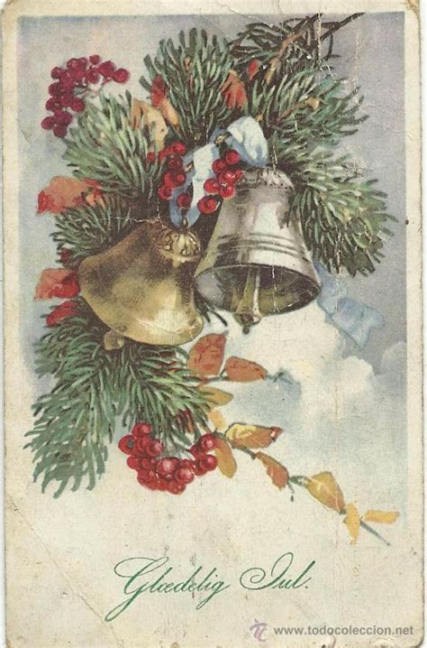 bonita postal antigua de navidad   Comprar Postales ...