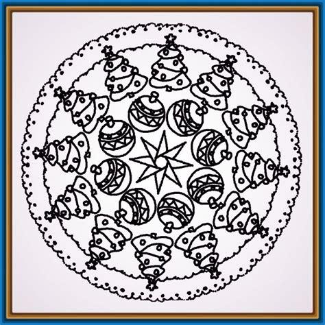 Bonitas Mandalas para Imprimir de Navidad | Dibujos de ...
