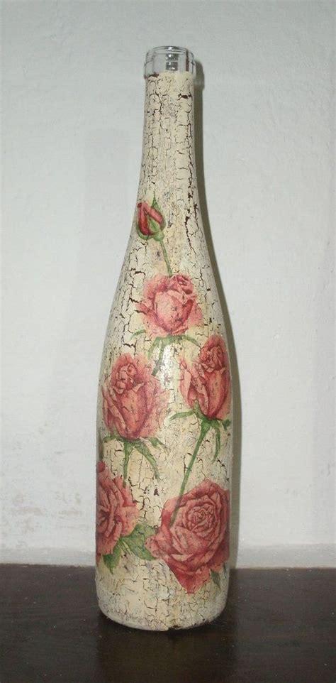 Botella de Cristal craquelada | Manualidades