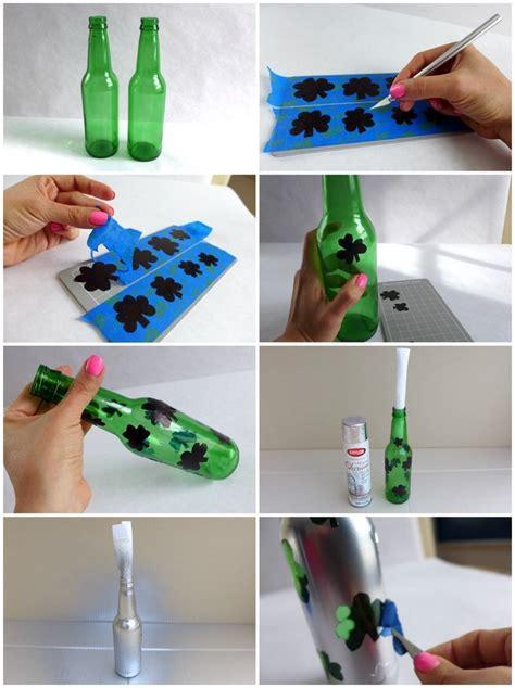 Botellas de cristal y tarros convertidos en jarrones 25 ...